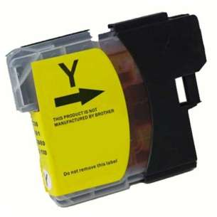 Compatible ink cartridge to replace Brother LC61Y - yellow
