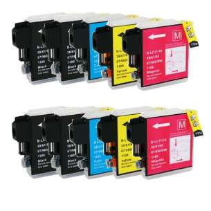 Compatible inkjet cartridges Multipack for Brother LC61 - 10 pack