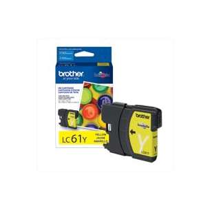 OEM Genuine Brother LC61Y inkjet cartridge - yellow
