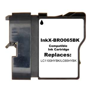 Compatible ink cartridge to replace Brother LC65HYBK - black cartridge