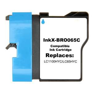 Compatible ink cartridge to replace Brother LC65HYC - cyan