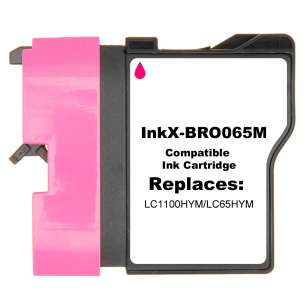 Compatible ink cartridge to replace Brother LC65HYM - magenta