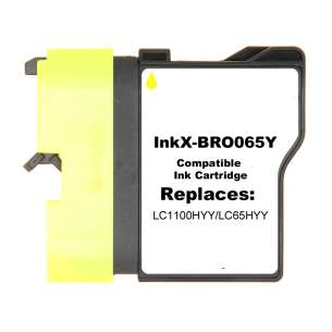 Compatible ink cartridge to replace Brother LC65HYY - yellow