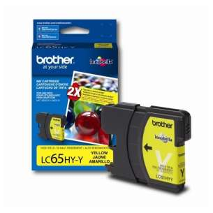 OEM Genuine Brother LC65Y inkjet cartridge - yellow