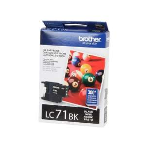 OEM Genuine Brother LC71BK inkjet cartridge - black cartridge