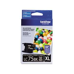 OEM Genuine Brother LC75BK inkjet cartridge - black cartridge