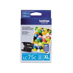 OEM Genuine Brother LC75C inkjet cartridge - cyan