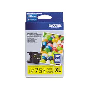 OEM Genuine Brother LC75Y inkjet cartridge - yellow