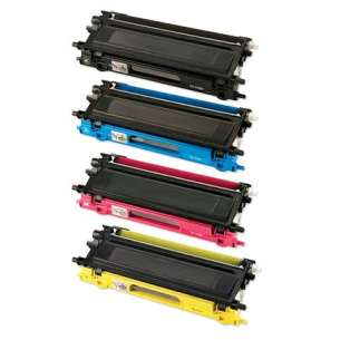 Compatible Brother TN210BK / TN210C / TN210M / TN210Y toner cartridges - 4-pack