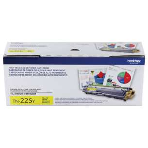 OEM Genuine Brother TN225Y toner cartridge - high capacity yellow