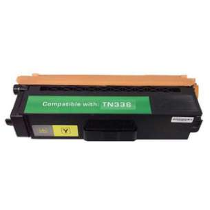 Compatible Brother TN336Y / TN331Y toner cartridge - high capacity yellow
