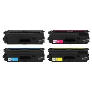 Compatible Brother TN339BK / TN339C / TN339M / TN339Y toner cartridges - 4-pack