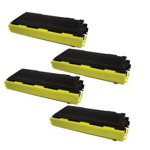 Compatible Brother TN350 toner cartridges - black cartridge - 4-pack