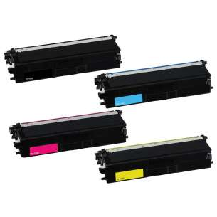 Compatible for Brother TN433BK / TN433C / TN433M / TN433Y toner cartridges - 4-pack