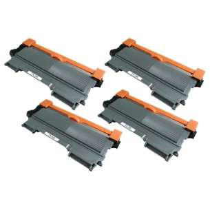 Compatible Brother TN450 toner cartridges - high capacity black - 4-pack