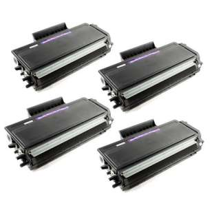 Compatible Brother TN650 toner cartridges - high capacity black - 4-pack