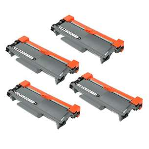 Compatible Brother TN660 toner cartridges - high capacity black - 4-pack