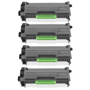 Compatible Brother TN850 (8,000 each yield) toner cartridges - black cartridge - 4-pack