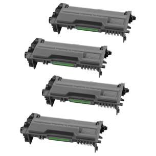 Compatible Brother TN890 (20,000 each yield) toner cartridges - black cartridge - 4-pack