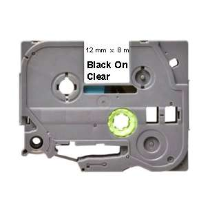 Label Tape - compatible for Brother TZe-131 - black cartridge on clear
