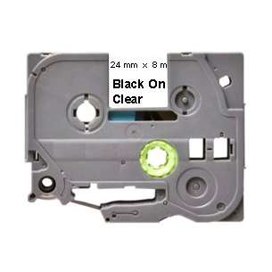 Label Tape - compatible for Brother TZe-151 - black cartridge on clear
