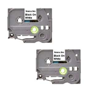 Compatible Atlantic Inkjet Canada label tape for Brother TZe-221 - black on white - 2-pack