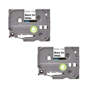 Compatible Atlantic Inkjet Canada label tape for Brother TZe-231 - black on white - 2-pack