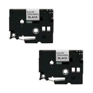 Compatible Atlantic Inkjet Canada label tape for Brother TZe-S221 - black on white - 2-pack