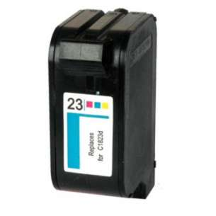 Remanufactured HP C1823A (HP 23 ink) inkjet cartridge - color cartridge