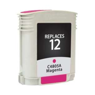 Remanufactured HP C4805A (HP 12 ink) inkjet cartridge - magenta