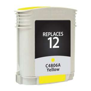 Remanufactured HP C4806A (HP 12 ink) inkjet cartridge - yellow