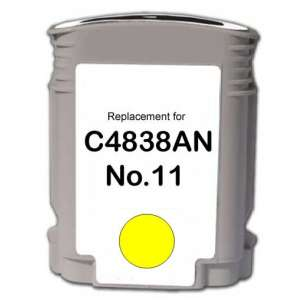 Remanufactured HP C4838a (HP 11 ink) inkjet cartridge - yellow