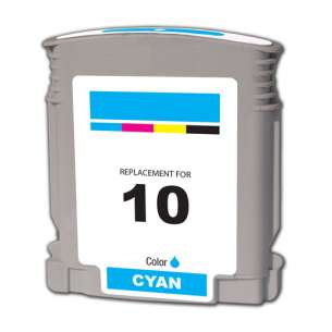Remanufactured HP C4841A (HP 10 ink) inkjet cartridge - cyan