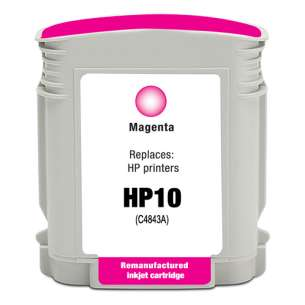 Remanufactured HP C4843A (HP 10 ink) inkjet cartridge - magenta