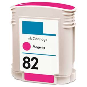 Remanufactured HP C4912A (HP 82 ink) inkjet cartridge - magenta