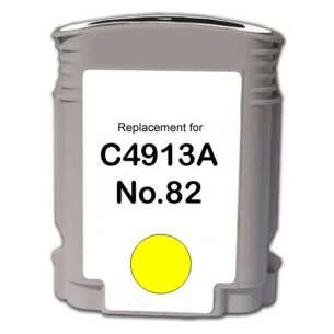 Remanufactured HP C4913A (HP 82 ink) inkjet cartridge - yellow