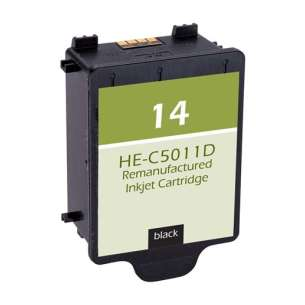 Remanufactured HP C5011AN (HP 14 ink) inkjet cartridge - black cartridge