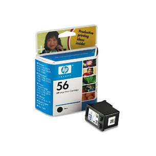 Original Hewlett Packard (HP) C6656 (HP 56 ink) inkjet cartridge - black cartridge