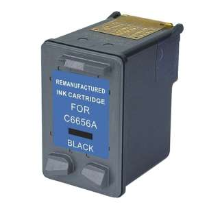 Remanufactured HP C6656AN (HP 56 ink) inkjet cartridge - black cartridge
