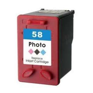 Remanufactured HP C6658 (HP 58 ink) inkjet cartridge - photo