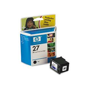 Original Hewlett Packard (HP) C8727 (HP 27 ink) inkjet cartridge - black cartridge