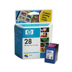 Original Hewlett Packard (HP) C8728 (HP 28 ink) inkjet cartridge - color cartridge