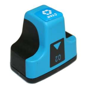 Remanufactured HP C8771WN (HP 02 ink) inkjet cartridge - cyan