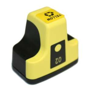 Remanufactured HP C8773WN (HP 02 ink) inkjet cartridge - yellow