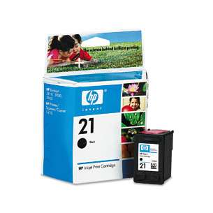 Original Hewlett Packard (HP) C9351AN (HP 21 ink) inkjet cartridge - black cartridge