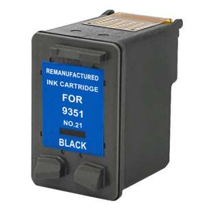 Remanufactured HP C9351AN (HP 21 ink) inkjet cartridge - black cartridge