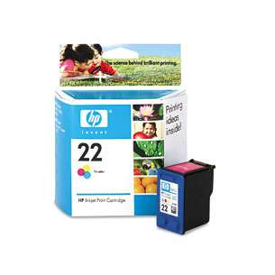 Original Hewlett Packard (HP) C9352AN (HP 22 ink) inkjet cartridge - color cartridge