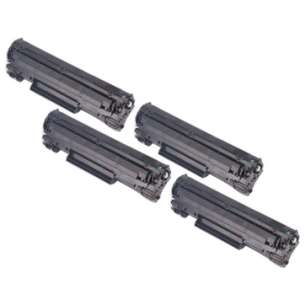 Compatible for Canon 137 toner cartridges - black cartridge - 4-pack