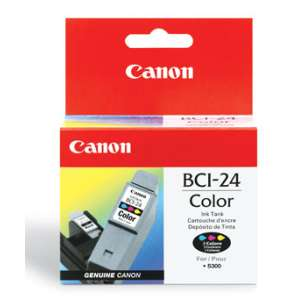 Genuine Brand Canon BCI-24C inkjet cartridge - color cartridge