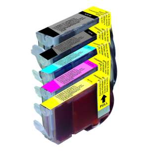Compatible inkjet cartridges Multipack for Canon BCI-3 / BCI-6 - 5 pack